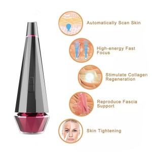 High frequency EMS heating facial massage vibrating massager beauty care device