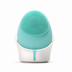 Customized  electric silicone facial massager soft silicone facial care cleansing brush