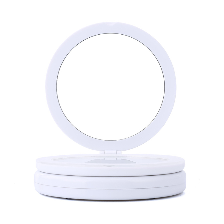 Mini Portable Round Makeup Mirror Power Bank LED Light Featured Image
