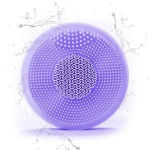 Ultrasonic Led Light Therapy Facial Cleansing Brush
