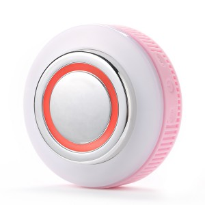 Waterproof facial cleansing brush with LED light