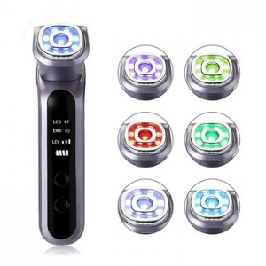 Instruction for the wrinkle remove and accelerate skin metabolism RF EMS Vibration & Hot Massager Therapy